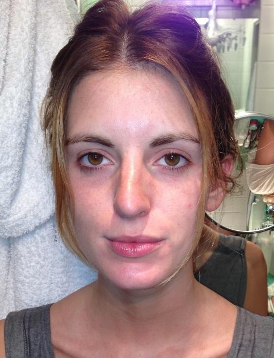 Marie avant le maquillage
