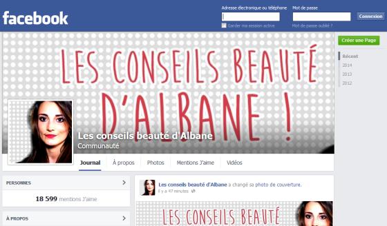 facebook les conseils beauté d albane